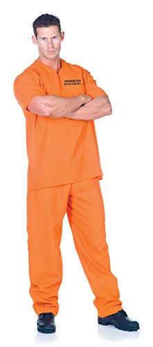 [Men's Prisoner Costume - Public Offender] (Cop And Inmate Couple Costumes)