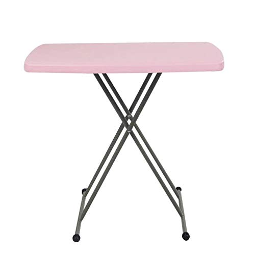 Wotryit 30 by 20 Inches Height Adjustable Inches Folding Personal Tables Pink Plastic, People with Different Heights.