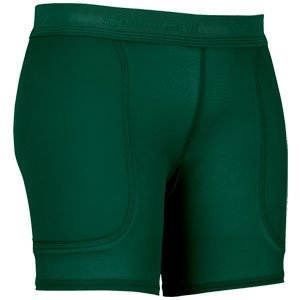 Stromgren Patented Low Rider Low Rise 7-Inch Inseam Compression Sliding Short with Foam Pads (Forest, (Rider Low Rise Shorts)