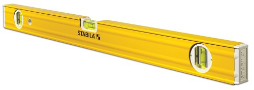 Stabila 29224 24-Inch Magnetic 3-Vial Contractors Level