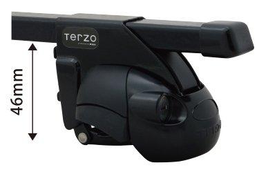 TERZO ホンダ オデッセイ H6.10~H11.11 RA1.2.3.4 ルーフレール付車 品番:EF11BL/EB2 ベースキャリア 1台分セット B072KD8HBQ