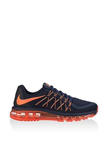 Nike Damen W Air Max 2015, Marine / Orange, 41 Eu