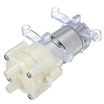 Aquarium Fish Tank Round Water Air Diaphragm Pump Dc12v 6w R385+ Silicone Buckle Outlet Dia 6mm X 9mm