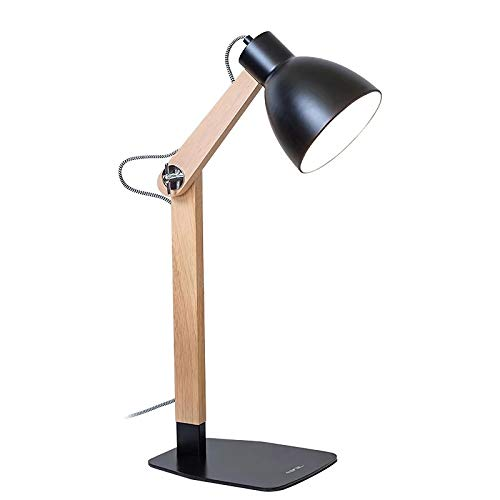 LED Desk Lamp Desk Light, Eye Protection Lamp with Wooden and Iron for Study, Working, Bedroom,2