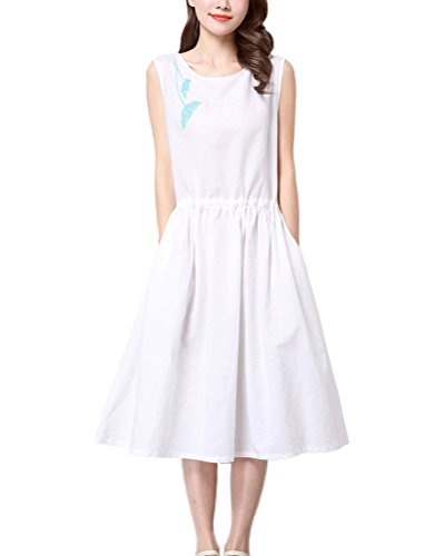 Buy belted linen dress - 6
