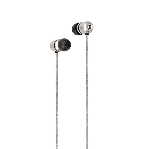 Kicker EB102S In-Ear Valid Series Premium Headphone Monitors with 3-Comply Foam Tips (Silver) - Kicker Headphones Speakers
