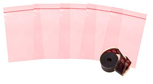 APQ Pack of 100 Anti-Static Seal Top Bags, Pink 6 x 8. Zip Locking bags 6x8 Ultra Thick Polyethylene packs 4 mil thickness. Great for packaging, storing. Ideal for Industrial Applications. Amine free. ()