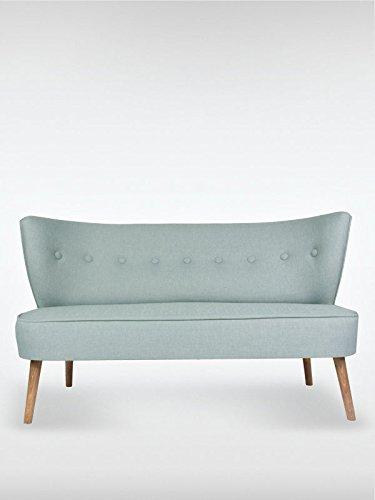2 Sitzer Vintage Sofa Couch Garnitur Brentwood Indigo Blau 141 Cm X