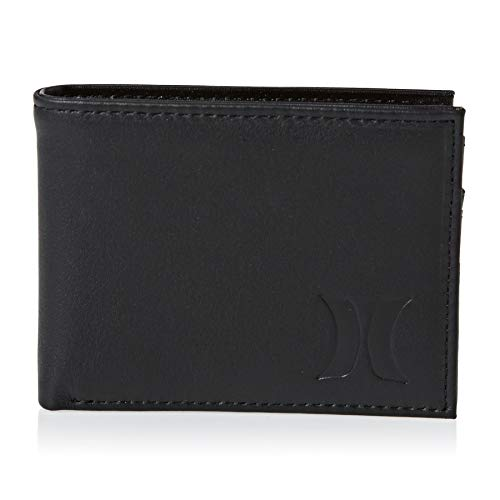 Hurley Men's Leather Wallet, Black (010), One Size ()