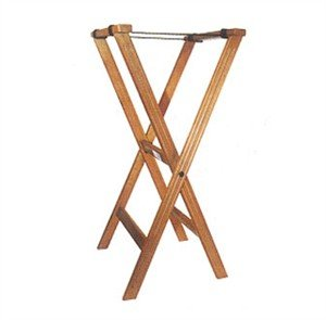 Winco Folding Tray Stand, 34-Inch, Mahogany