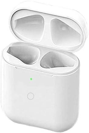 NeotrixQI Qi Reemplazo de la caja estuche de carga inalámbrica Compatible con AirPods 1 2, Tapa protectora Batería incorporada 5 veces carga completa con botón de sincronización bluetooth(blanco): Amazon.es: Electrónica