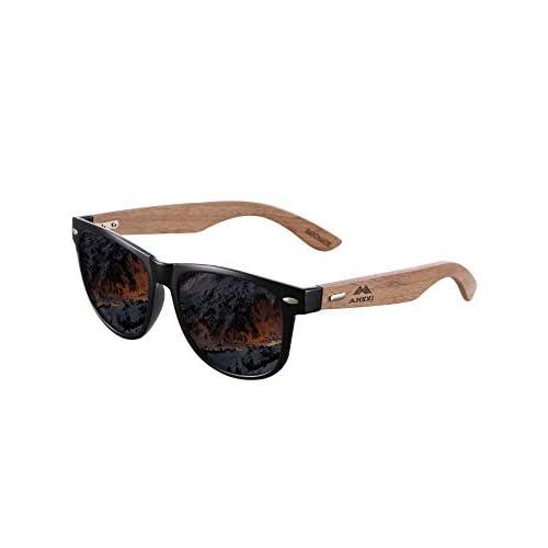 Amexi Gafas de Sol Polarizadas Hombre y Mujere, UV400 Protection, Gafas Ligeras con Patillas de Madera a buen precio