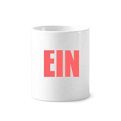 (EIN United Arab Emirates Toothbrush Pen Holder Mug White Ceramic Cup 350ml)