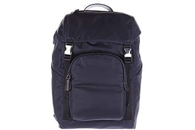 Prada mochila bolso de hombre en Nylon nuevo montagn blu: Amazon.es: Zapatos y complementos