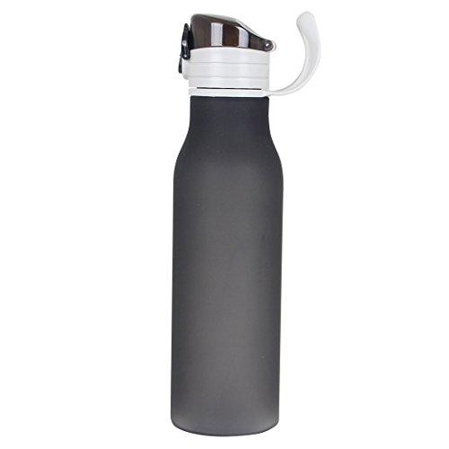 Water Bottles Sports,17oz Leak-proof Gym Flask with Lid-lock PBA Free (Black)