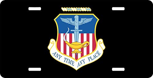 License Plate Covers US Air Force 16th Special Operations Wing, Military Aluminum Metal License Plate for US Vehicles, Car Tag Decoration for Women/Men, 12 x 6 Inch