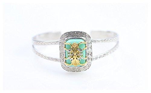 Dangling Turquoise Bracelet (AJ Designer Statement luxury Elite Turquoise bracelet collection (spider c-shape))