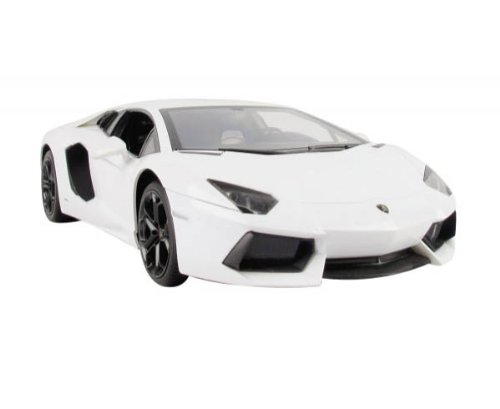 1/14 Scale White Lamborghini Aventador LP700 Radio Remote Control Model Car R/C ()