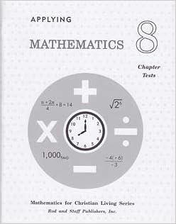 Applying Mathematics Grade 8 Math Chapter Tests: Rod and Staff