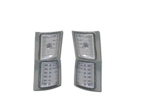 Velocity Concepts Chrome Clear Signal Parking Corner Lights LAMP YD 94-00 Chevy C10 C/K Pickup/SUV ()