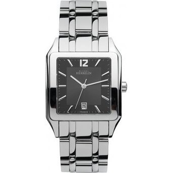 Michel Herbelin 12447-B14 Mens Luna Silver Steel Bracelet Watch