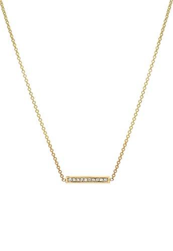 14k gold small diamond bar, pave diamond bar by Zoe Lev Jewelry