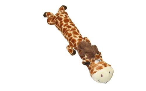Multipet Dawdler Dudes Giraffe Plush Filled Squeak Dog Toy, 20-Inch