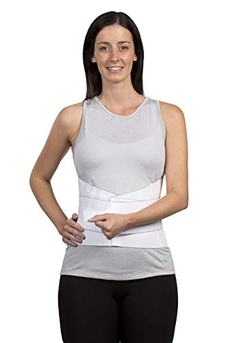 FitPro Adjustable Elastic Back Lumbar Support Brace, Large, Amazon Exclusive Brand