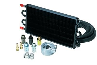 Derale 15502: Fluid Cooler, Engine, Tube and Fin, Aluminum/Copper, Black, 7 1/2 in. x 17 in. x 3/4 in, Each