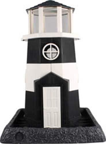 North States Village Collection Light House Birdfeeder- Black/White