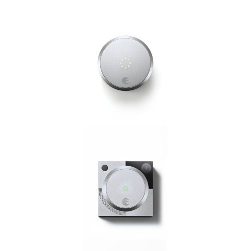 August Smart Lock HomeKit Enabled (Silver) with August Doorbell Cam (Silver)