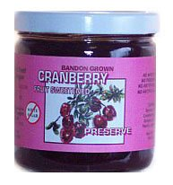 CRANBERRY FRUIT SWEETENED PRESERVE