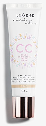 Free Tinted Paraben Moisturizer (Lumene CC Color Correcting Cream SPF20, Light, 1 Fluid Ounce)