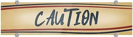 24x6 Nostalgia Stripes Premium Brushed Aluminum Sign CGSignLab Caution 5-Pack