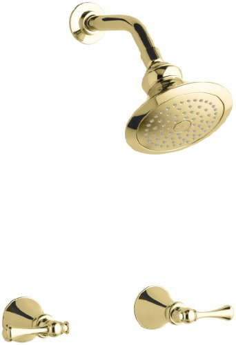 KOHLER K-16214-4A-PB Revival Shower Faucet, Vibrant Polished Brass