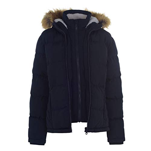 Soul Cal Womens 2 Zip Bubble Jacket Puffer Coat Top Long