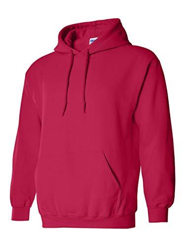 Gildan Adult Heavy Blend� Hooded Sweatshirt (Cherry Red) (Small)