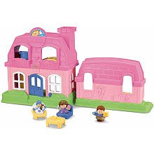 Fisher-Price Little People Happy Sounds Home - Pink ()