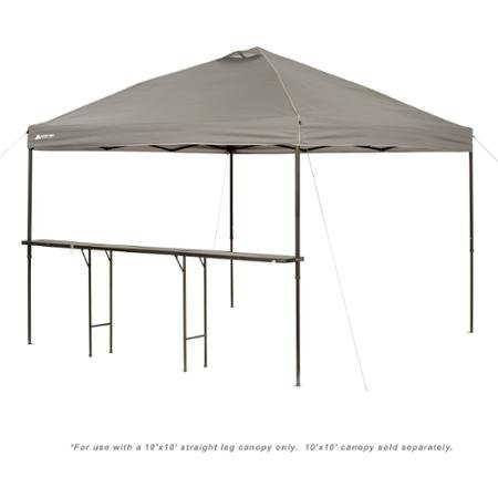 Bar-Height Canopy Folding Table, Durable Steel Legs, 10' x 10', Black by Unknown