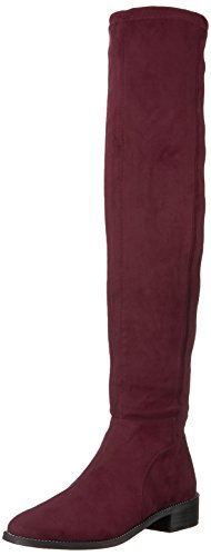 Franco Sarto Women's Bailey Over The Knee Boot, Black/Stretchsuedefabric, 13 B(M) US Dark Burgundy