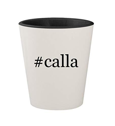 #calla - Ceramic Hashtag White Outer & Black Inner 1.5oz Shot Glass