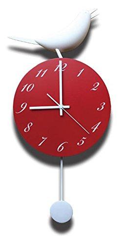 JIG 壁掛け時計 Singing Bird Clock レッド×ホワイト CSB-51518 B00O0T5LSIレッド×ホワイト
