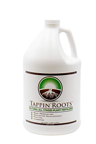 - 1 Gallon (Stage 1- Seed Germination) Tappin' Roots Concentrated All Stages Liquid Plant Root Growth. Use On All Plants Throughout The growing season. Use on Gardens & House Plants, Lawns & hydroponics
