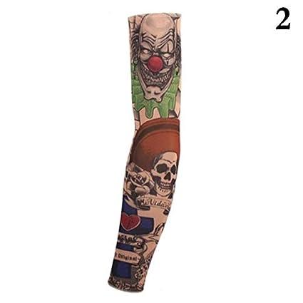 deportes ciclismo mangas del tatuaje UV genial mangas de ...