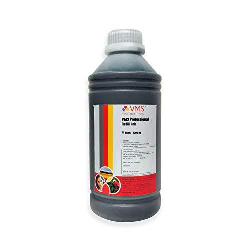 VMS Professional Refill Ink 1 l CIFSR color Black Refill Ink Compatible for Epson L100, L110, L130 Printers