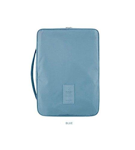 Shirt Tie Organizer Packing Travel Storage Pouch Waterproof for Men Women (Blue)