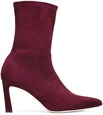 Stuart Weitzman Womens Rapture 55 Leather Pointed Toe, Cabernet Suede, Size 8.5