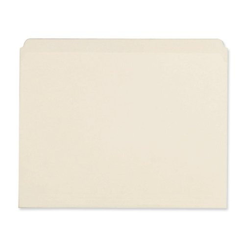 Universal 12110 File Folders, Straight Cut, One-Ply Top Tab, Letter, Manila, 100-Box