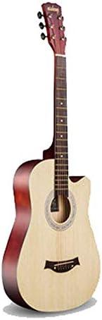アコースティックギター アコースティックギター初心者エントリ練習ピアノの指アコースティックギター初心者 初心者セット (色 : F, Size : 38 inches)