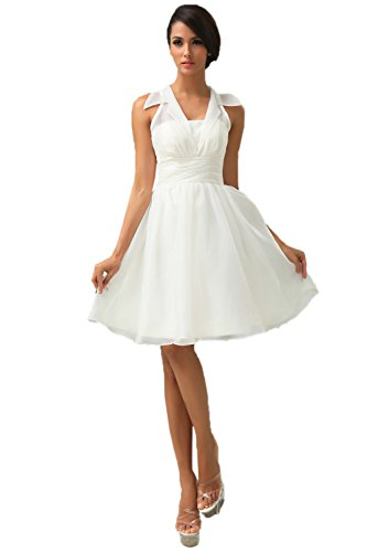 New Sposa Short Soft Oganza Summer Wedding Dress Formal for sale  Delivered anywhere in Canada